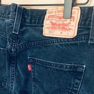 Vintage Levi Wedgie Jean 501 Button Fly Black EUC